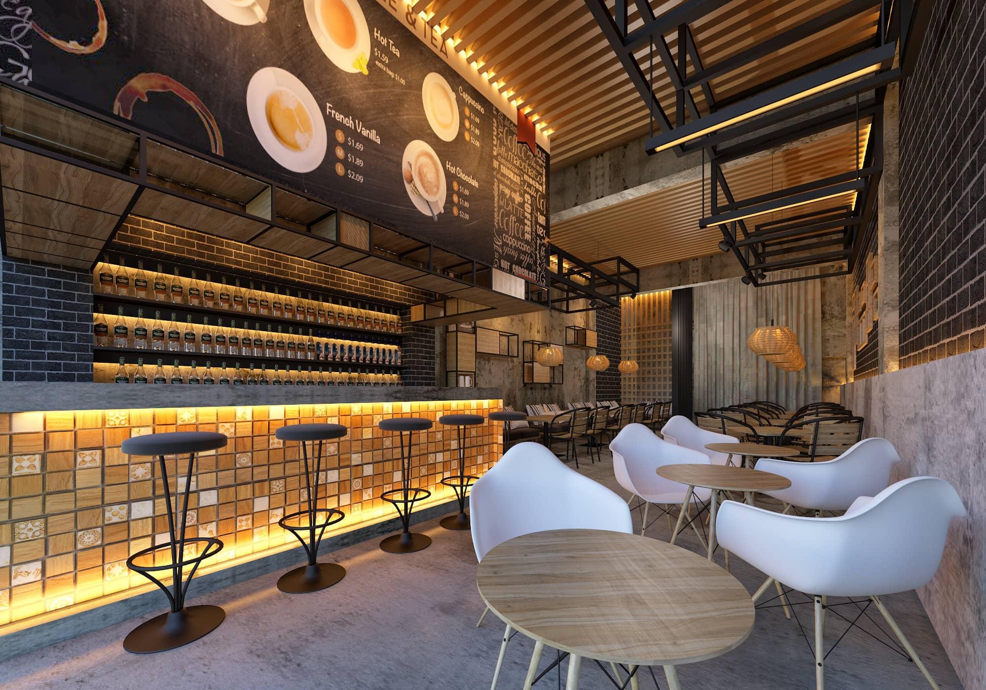 Industrial Coffee Shop Gdsa Architects